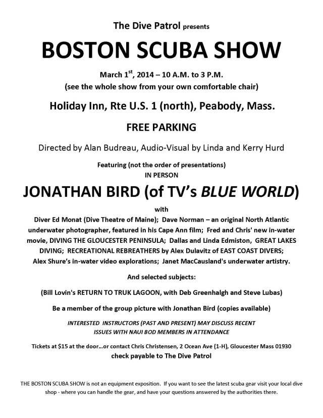 Boston Scuba Show 2014 Mailer